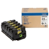 Brother HGe-651V5 svart på gul tejp 5-pack, 24mm (ORIGINAL) HGe651V5 080920