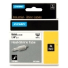 Dymo S0718260/18051 IND Rhino Shrinktube tejp, svart / vit, 6mm (ORIGINAL) 18051 088694