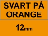 Dymo S0718490/18435 IND Rhino tejp, svart / orange, 12mm (varumärket 123ink) 18435C 088615