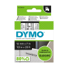 Dymo S0720500/45010 tejp, svart / transparent, 12mm (ORIGINAL)