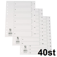 Q-Connect KF00156 110g A4 pappregister 1-12 (40-pack)  500457