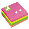 Q-Connect KF01348 Quick Notes 76mm x 76mm Cube Neon