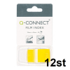 Q-Connect KF03634 Film Index 25mm x 43mm Gul, 50st (12-pack)  500546