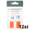 Q-Connect KF03636 Film Index 25mm x 43mm Orange, 50st (12-pack)