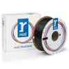 REAL 3D Filament PETG svart 1.75mm 1kg (varumärket REAL)  DFE02012